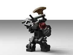 Lego Biomech Animals Bull (Skew View) (thebrickccentric) Tags: lego biomech animal animals biomechanical sci fi scifi science fiction fantasy castle medeival medieval soldier moc npu wip ideas idea creature monster bull eagle frog tortoise turtle hawk bear toad amphibian bird reptile mammal latin rpg roleplaying game board weapon army sword spear ax axe bow arrow quiver sheath metal armor suit mech mecha hardsuit robot android cyborg space star battle war wars fight duel arm gun helmet shield roman formation