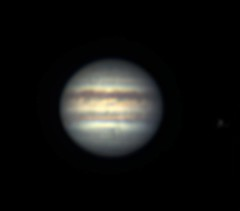 Jupiter on April 24, 2019 (The Dark Side Observatory) Tags: tomwildoner night sky space outerspace meade lx90 telescope astronomy astronomer science canon deepsky deepspace weatherly pennsylvania observatory darksideobservatory tdsobservatory earthskyscience carboncounty meadetelescope canon6d meadeinstruments meadeinstrument jupiter planet grs io moon april 2019