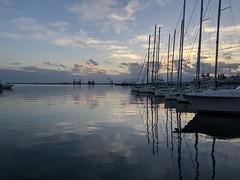 Sunset at Cagliari's Harbor (Mobile_Photographer) Tags: galaxys8 43 googlecamera hdr cagliari portodicagliari sunset tramonto s8 smartphone mobile phone
