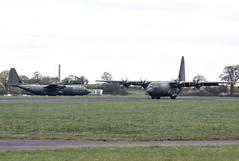 Lockheed C-130J Hercules - Royal Air Force - ZH881 & ZH868 (lynothehammer1978) Tags: keevilairfield royalairforce raf zh881 zh868 lockheedc130jhercules