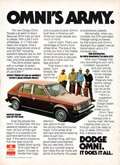 1978 Dodge Omni 5 Door Hatchback Chrysler Corporation USA Original Magazine Advertisement (Darren Marlow) Tags: 1 7 8 9 19 78 1978 p plymouth o omni h hatchback c chrysler corporation car cool collectors classic a automobile v vehicle f french france e europen europe 70s