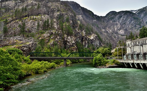 The Skagit River and Gorge Dam Powerhouse (North Cascades National Park Service Complex)