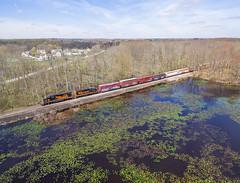WLE 663 Twinsburg (Chicago Line Railfan) Tags: aurora ohio unitedstatesofamerica wle we wheeling lake erie 303 663 solon job tinkers creek nature preserve twinsburg oh