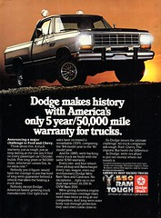 1985 Dodge Ram Pickup Truck USA Original Magazine Advertisement (Darren Marlow) Tags: 1 5 8 9 19 85 1985 d dodge ram r p pickup t truck c car cool collectible collectors classic chrysler corporation a automobile v vehicle u s us usa united states american america 80s