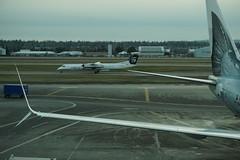 QX Bombardier Dash-8 Q400 N408QX (kevincrumbs) Tags: portland northeastportland portlandinternationalairport pdx kpdx alaskaairlines as horizonair qx bombardier dash8 dash8q400 n408qx airliner