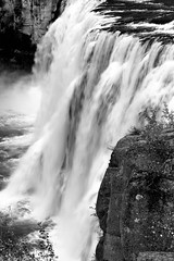 2017 Upper Mesa Falls In Monochrome 6 (DrLensCap) Tags: upper mesa falls in monochrome warm river idaho id waterfall water fall bw black and white 40 day adventure robert kramer