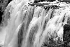 2017 Upper Mesa Falls In Monochrome 5 (DrLensCap) Tags: upper mesa falls in monochrome warm river idaho id waterfall water fall bw black and white 40 day adventure robert kramer