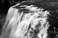 2017 Upper Mesa Falls In Monochrome 4 (DrLensCap) Tags: upper mesa falls in monochrome warm river idaho id waterfall water fall bw black and white 40 day adventure robert kramer