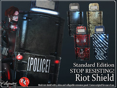 !Reliquary! STOP RESISTING! Riot Shield/ Standard Edition (!Reliquary!) Tags: secondlife second life marketplace mp mainstore r reliquary scifi cyberpunk cyber punk 2077 futuristic star wars mizumations shihu paradoxical mode koarin yakubu vandom weapon shield riot police military swat army pirate accessories roleplay role play rp bento stylecard style card catwa slink elua truth izzies insol suicidal unborn mandala alaskametro sole blunderforge krova fairlight industries omnis process elimination p0e littlefish