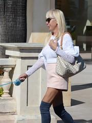 20190417-163815 (ze06) Tags: candid street cannes croisette sexy girl gorgeous glamour fashion woman blonde sunglasses dentelle skirt miniskirt resille pantyhose leggings boots heels legs vuitton