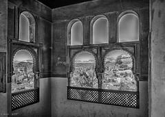 Granada... desde mi habitación (MTorresTortosa) Tags: albaicín granada blancoynegro hdr ventana ventanas window windows andalucía españa spain blackandwhite