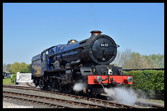 No 6023 King Edward ll 21st April 2019 Didcot Railway Centre (Ian Sharman 1963) Tags: no 6023 king edward ll 21st april 2019 didcot railway centre class 6000 460 station steam engine rail railways train trains loco locomotive passenger gwr great western heritage line