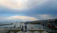 Trabzon port (LeelooDallas) Tags: asia europe turkey trabzon dana iwachow dragoman overland silk road trip october 2018 landscape architecture port sea crane