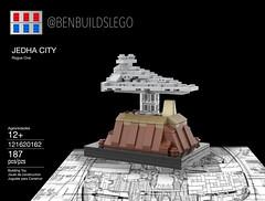 Lego Star Wars - Jedha City MOC (Box) (BenBuildsLego) Tags: rogue one star wars lego legos brick bricks cool bricklink studio 3d render instructions empire imperial destroyer jedha moon jedi death krennic jyn erso benbuildslego