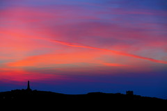 Red skies over Carn Brea (Cornish Reflections) Tags: cornwall sunset carnbrea castle monument uk england cornish