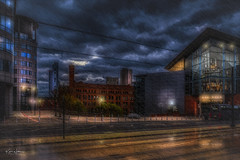 The Bridgewater Hall, Manchester (Kev Walker ¦ 10 Million Views..Thank You) Tags: architecture building city england manchester panoramic sky town water art background bridge britain buildings business canal castlefield center centre cityscape design downtown dusk europe european great kingdom landmark light metropolitan modern night places quays quayside reflection salford skyline skyscraper square symbol tourism tower travel twilight uk united urban view yellow rain