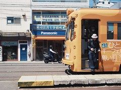 Hankai Tramway 阪堺電車 (Osaka Japan) (Wan.L) Tags: m43 オリンパス 日本 大阪 阪堺 電車 asia day view streetphotography streetphoto streetview street osaka japan train penf olympus