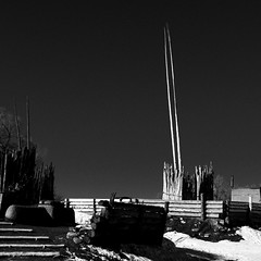 Taos Pueblo No. 10 (Mabry Campbell) Tags: h5d50c hasselblad newmexico santafe taos taospueblo usa unitedstatesofamerica adobe architecture blackandwhite building commercialphotography fineart fineartphotography historic image nativeamerican old photo photograph photographer photography pueblo squarecrop f71 mabrycampbell december 2016 december272016 20161227campbellb0001168 80mm ¹⁄₈₀₀sec 100 hc80