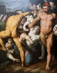 horror (andrevanb) Tags: amsterdam rijkmuseum art 16thcentury painting 1592 detail dekindermoordinbethlehem massacreinbethlehem cornelisvanhaarlem