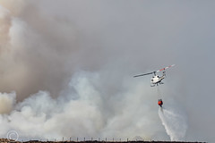 Marsden Moor fire Easter 2019 (20) (Mark Schofield @ JB Schofield) Tags: reservoir water peat moorland bog moss agriculture yorkshire huddersfield wessenden head pule buckstones scammonden royd edge valley holme colne marsden meltham digley march haigh west nab deer emley mast thenationaltrust helicopter heliliftservices fire burn douse bomb n35eh