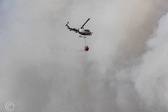 Marsden Moor fire Easter 2019 (17) (Mark Schofield @ JB Schofield) Tags: reservoir water peat moorland bog moss agriculture yorkshire huddersfield wessenden head pule buckstones scammonden royd edge valley holme colne marsden meltham digley march haigh west nab deer emley mast thenationaltrust helicopter heliliftservices fire burn douse bomb n35eh