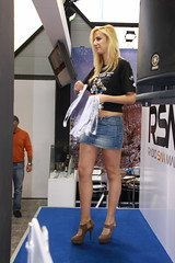 motorshow girl (themax2) Tags: 2009 bologna girl high heels hostess legs miniskirt motorshow tights highheels