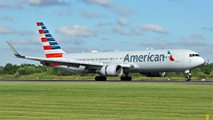 N347AN (AnDyMHoLdEn) Tags: americanairlines 767 oneworld egcc airport manchester manchesterairport 05r