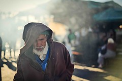 An old man at Jemaa el Fna square (snowpine) Tags: street streetphotography streetportrait candid oldman square marrakech morocco market lifestyle light