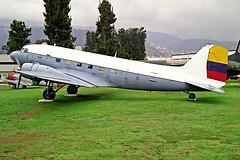 77164   (44-77164 / HC-AUT) Douglas DC-3C-47B-35-DK [16748/33496] (Ex Ecuadorian Air Force / Museo Aeronautco de la FAE) Quito-(Old) Mariscal Sucre Int'l~HC 08/02/1997 (raybarber2) Tags: 1674833496 4477164 77164 alpechacollection cn1674833496 filed flickr hcaut negative planebase preserved propliner proptransport sequ unmarked oldtimer