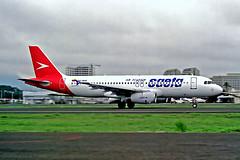 HC-BUH   Airbus A320-232 [0425] (SAETA Air Ecuador) Guayaquil-Simon Bolivar Int'l~HC 06/02/1997 (raybarber2) Tags: 0425 airliner alpechacollection brokenup cn0425 cancelled ecuadorcivil filed flickr hcbuh negative planebase segu