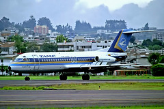 HC-BMD   Fokker F-28-4000 Fellowship [11220] (TAME Linea Aerea del Ecuador) Quito-(Old) Mariscal Sucre Int'l~HC 03/02/1997 (raybarber2) Tags: 11220 airliner alpechacollection brokenup cn11220 cancelled ecuadorcivil filed flickr hcbmd negative planebase sequ