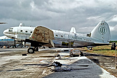 HI-602CA   Curtiss C-46D-15-CU Commando [33379] (Aerotim Cargo) Santo Domingo-Las Americas Int'l~HI 03/02/1997 (raybarber2) Tags: 33379 alpechacollection cn33379 dominicanrepublic filed flickr hi602ca mdsd negative planebase propliner stored oldtimer