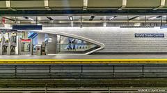 Manhattan, NY: World Trade Center station on Line 1 (nabobswims) Tags: hdr highdynamicrange ilce6000 lightroom manhattan metro mirrorless ny nabob nabobswims newyork photomatix rapidtransit sel20f28 sonya6000 station subway ubahn us unitedstates worldtradecenter