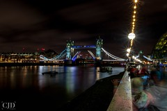 Ghosts Of The Night (CJD imagery) Tags: water outdoors spring canonefs18135mmf3556isstm canoneos80d lighttrails longexposurephotography longexposure nightphotography night city reflections riverthames london towerbridge thequeenswalk southbank england gb greatbritain uk unitedkingdom