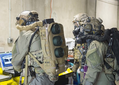 (EODMU-12 conducts a chemical response drill.