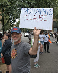 Emoluments Clause (Scott 97006) Tags: sign political man president protest cap