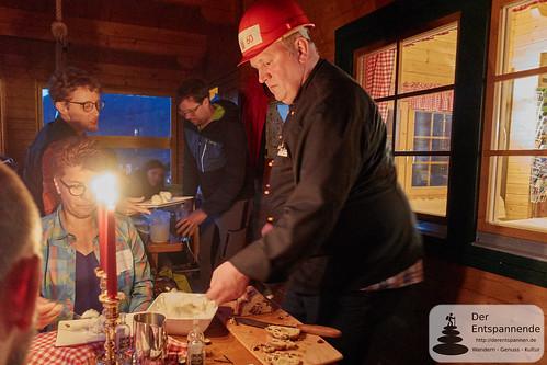 Flambierter Christinenstollen von Wolfgang von der Heide in der Diemelsteighütte