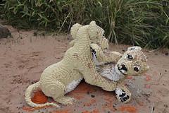 Lion cubs (wdw1998) Tags: lion lioncubs lego chesterzoo brightbricks