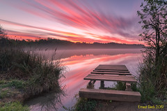 Sunrise colors (Ernest Bech) Tags: catalunya girona pladelestany banyoles albada amanecer sunrise colors colours colores estany llac lake lago landscape longexposure llargaexposició llums lights