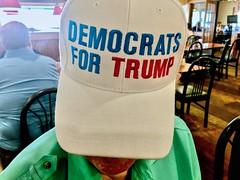 DEMS FOR TRUMP CAP (mrgraphic2) Tags: dems for trump cap hat democrates donaldtrump logo political