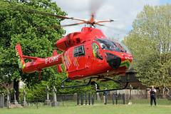 London's Air Ambulance in Willesden (kertappa) Tags: img6490 air ambulance londons london hems doctor paramedics hospital gehms emergency helicopter kertappa willesden st marys