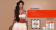 ICONIC.LETOYA.BANNER_SAT (Neveah Niu /The ICONIC Owner) Tags: sale secondlife saturday second mesh meshhair hair hairstyles ethinicsl zbrush ble