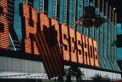 Downtown Las Vegas (Roger Gerbig) Tags: lasvegas downtown fremontstreet nevada rogergerbig canonf1 canonfd35105mmf35 kodachrome64 kr64 slidefilm 135film 35mm transparencyfilm fremontstreetexperience
