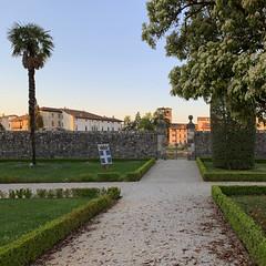 (Paolo Cozzarizza) Tags: italia friuliveneziagiulia pordenone spilimbergo scorcio alba alberi piante cancello chiesa mosaico muro