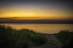 the path to blazing glory (TAC.Photography) Tags: portcrescentstatepark sunset beach dunegrass michigan lakehuron goldenhour orangesunset