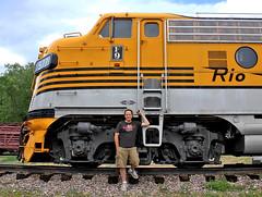Happy Reunion (jamesbelmont) Tags: riogrande drgw emd f9 passenger streamliner coloradorailroadmuseum golden colorado railroad railway train locomotive jamesbelmont