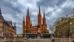 Evangelische Marktkirche in Wiesbaden (Peter Goll thx for +12.000.000 views) Tags: wiesbaden hessen deutschland rheingau marktkirche evangelisch kirche church 2019