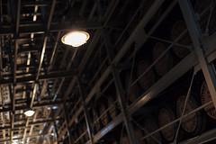 aging room, Hakushu Distillery, Yamanashi, Japan (Plan R) Tags: aging room dark ceiling light barrel whisky distillery leica m 240 noctilux 50mm
