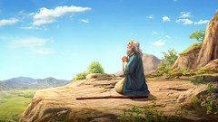 Dio intende distruggere il mondo con un diluvio, ordina a Noè di costruire un'arca (eshao5721) Tags: cieloblu montagna noè preghiera lachiesadidioonnipotente dioonnipotente operadidio