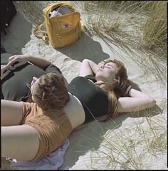 worn out (steve-jack) Tags: hasselblad 501cm 80mm cb kodak portra 160 film 120 6x6 medium format beach bonked studland dorset tetenal c41 epson v500